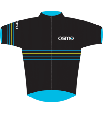 Front view of Osmo cycling jersey