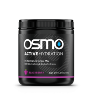 Tub of Blackberry flavored Osmo Active Hydration